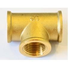 Brass Female Equal Tee